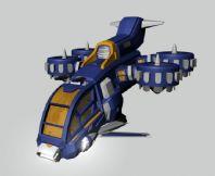 未来武装直升机maya模型