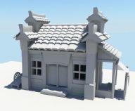 房屋,房子,民房,中式建筑maya模型