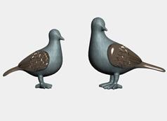 鸽子,艺术品,装饰品,3d家居装饰模型