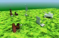 一个maya做的自然场景模型