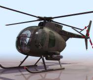 小型直升机,飞机3D模型