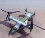 鱼鹰 倾斜旋转翼飞机3D模型