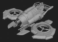 个性飞船,飞行器maya模型