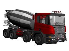 搅拌车,混凝土车,混凝土搅拌车3D模型