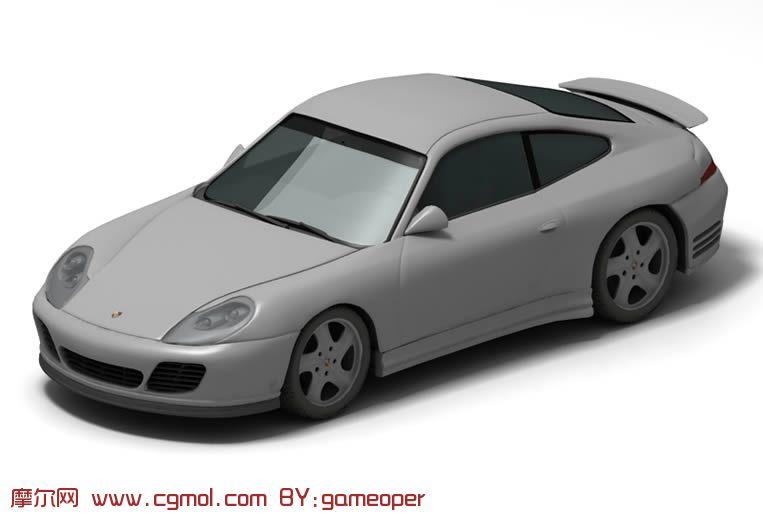 保时捷跑车3D模型 汽车 运输模型