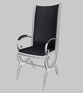 欧式休闲靠背椅,椅子3D模型