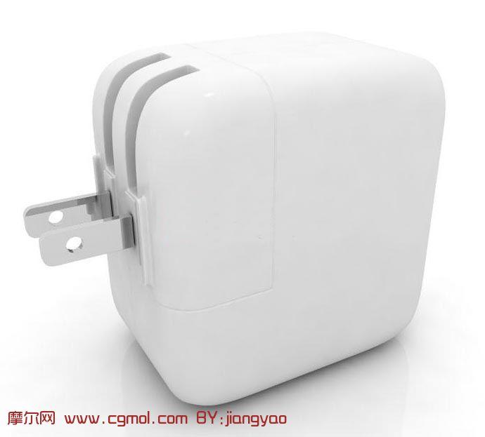 苹果手机充电器3d模型