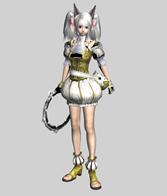 扎着马尾辫的游戏人物3D模型