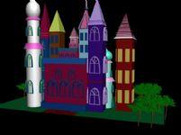 童话城堡,3D建筑模型