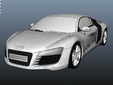 奥迪r8的maya模型