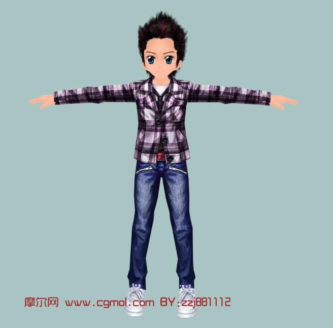 劲舞男孩,3d卡通游戏角色模型