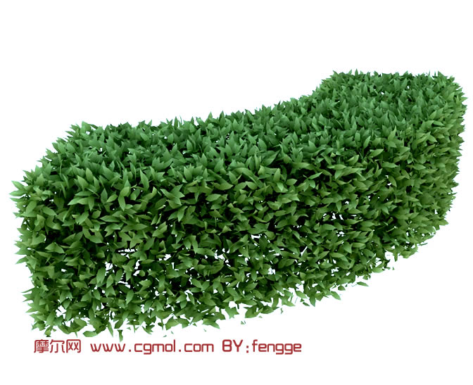 绿化带,绿化植物3d模型