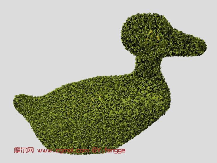 像鸭子一样的植物花艺装饰3d模型