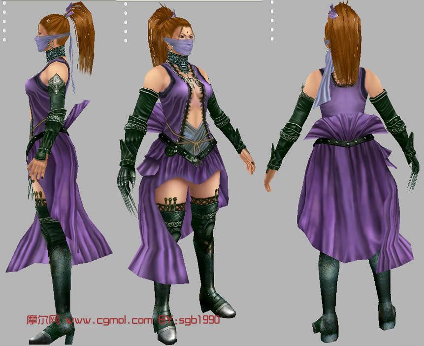 maya 游戏角色模型高清图片