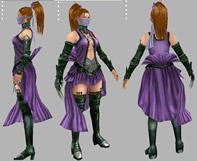 女刺客,maya游戏角色模型