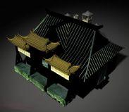 铁匠铺,maya古代建筑模型