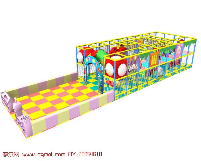 儿童娱乐设施,娱乐场地,maya模型