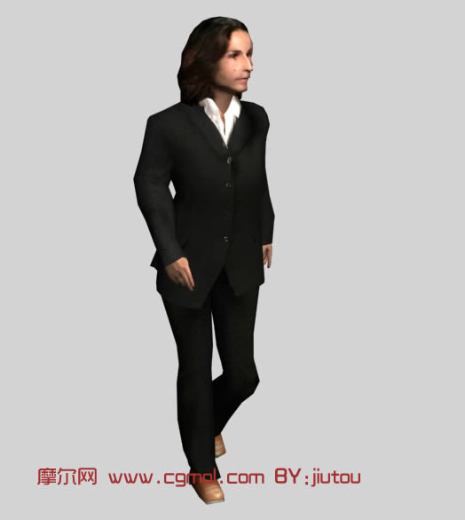 绅士,男人3d模型