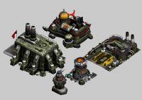 红警3苏军单位建筑3D模型(贴图全)