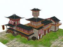 客栈,旅店,3D古代建筑模型