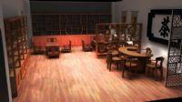 茶艺室,maya室内模型