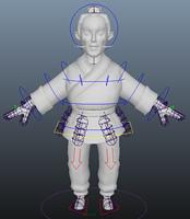 老头maya模型(带绑定)