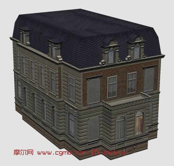 別墅建筑3d模型