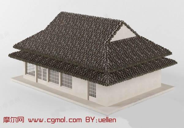 建筑模型 基础设施  关键词:民宅民房房子建筑 作品描述: 作者其他