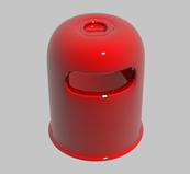 红色垃圾桶3d模型