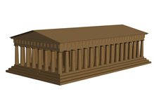 帕特农神庙3d模型