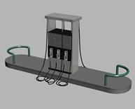 加油站3d模型