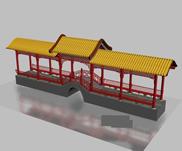 轩楼婷阁,3d古代建筑模型