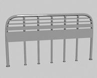 排型路障3d模型