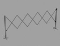 伸缩式路障3d模型
