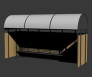 公交车站台3d模型