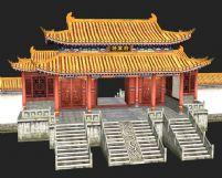 将军府,古代建筑3D模型