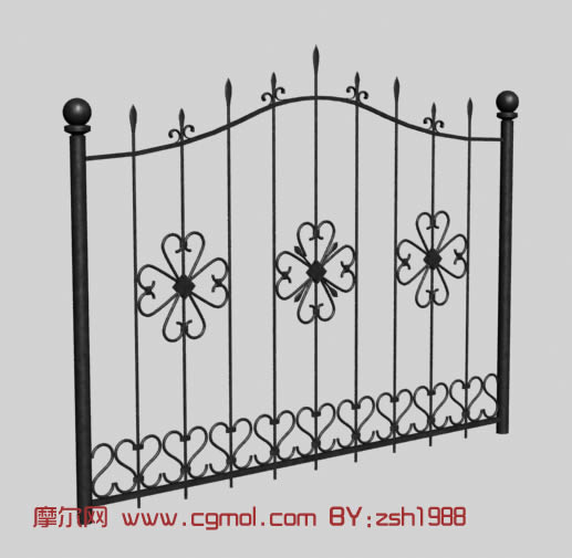 铁门,栅栏,园林小品3d模型