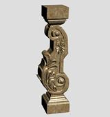 石雕柱子,栏杆3d模型