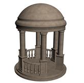 圆顶凉亭3d模型