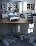 maya卧室模型