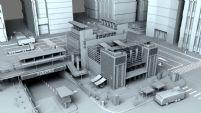 现代繁华市区场景maya模型