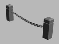 栏杆,护栏,保护带3d模型