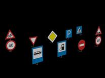 路标,交通指示标志3d模型