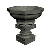 石雕喷泉,园林小品3d模型