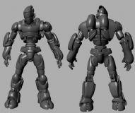 设计很酷的未来机器战士3d模型