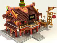 Q版修炼房,3D游戏建筑模型