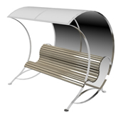 园林避光长椅3d模型
