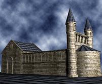 教堂,城堡3D模型
