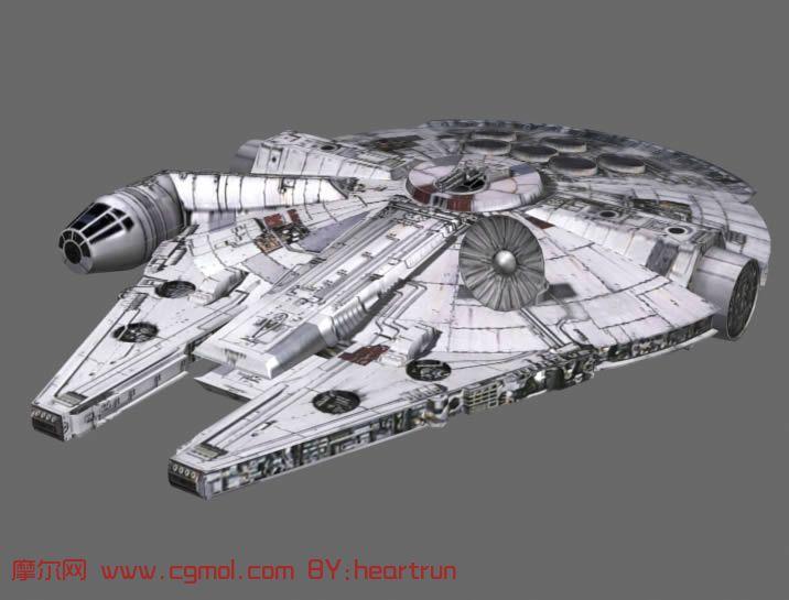 À�星球大战》 Millennium Falcon ō�年隼号飞船3d模型 ɣ�行器 ņ�事模型 3d模型免费下载 Ƒ�尔网