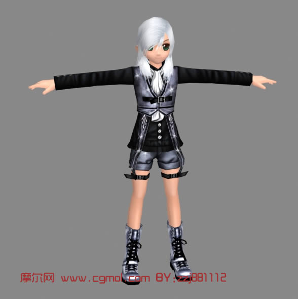 卡通人物3d模型
